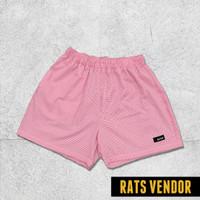 Boxer Pria Celana Dalam Pria Rats Vendor Motif Kotak Kotak Pink