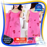 Baju Handuk Mandi Dewasa Wanita Kimono Renang Karakter Cloth - Pink