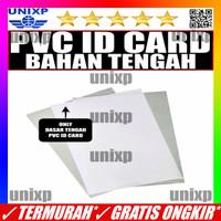 Kertas PVC Bahan ID Card Instan - Dasar Tengah White Putih