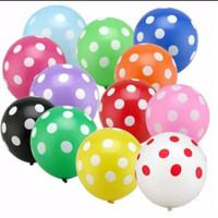Balon Karet Latex Polkadot 12 inch Ballon Baloon Per 1Pcs Warna Random