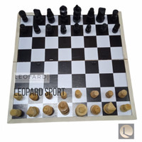 Papan catur kayu / chest board / board game (M) 30x30 cm / permainan