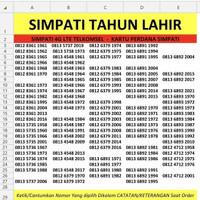 NOMOR CANTIK SIMPATI 4G LTE TELKOMSEL NOCAN SIMPATI TAHUN LAHIR MURMER - HARGA BELI 1
