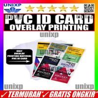 Bahan Printer Id Card Cetak Id Card Kertas Pvc Id Card Overlay Print - 1Pack=50Lembar