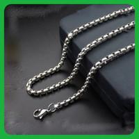 kalung pria wanita titanium silver xk24