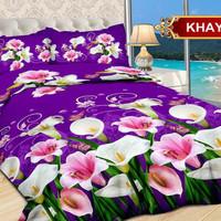 Bedcover Bonita + Sprei Size King 180x200 Motif Khayana