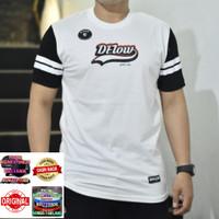 kaos distro Original Dflow kaos murah kaos pria size M L XL code 007 - garis, M