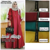 Baju Gamis Wanita /Gamis Wanita Syar'i /Baju Gamis Jumbo IMEL - Maroon