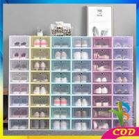 RB-C158 Kotak Sepatu Lipat Transparan Tebal ShoesStorage Box Organizer
