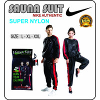 Baju Sauna Sauna Suit Jaket Sauna Nike Pembakar Lemak Jaket Celana Sau