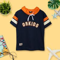 ORKIDS Baju Kaos Anak Spot / Navy - XXXXL