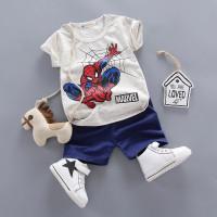 Baju bayi setelan anak laki laki umur 6 bulan-4 tahun motif Spiderman