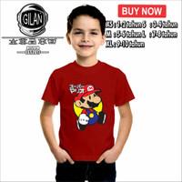 Kaos Baju Anak SUPER MARIO JEPANG GAME Kaos anak Gamer - Gilan
