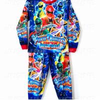 Baju Setelan Anak Laki-Laki Motif POWER RANGERS Lengan Panjang