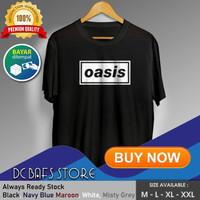 Kaos Tshirt Cowok Pria Dewasa Distro Terbaru Premium Katun Band Oasis - Putih, M