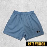 Boxer Pria Polos Celana Pendek Rats Vendor Adem