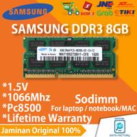RAM LAPTOP / MAC SAMSUNG DDR3 8GB 1066Mhz / PC8500 SODIMM MEMORY 1.5V