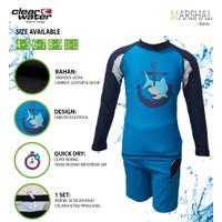 Clear Water Baju Renang Diving Anak Atasan Bawah Lengan Panjang CDS007