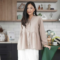 Viena Blouse Beatrice Clothing - Blouse Wanita - Olive