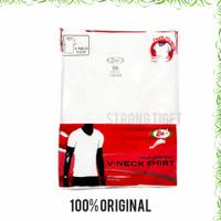 T-Shirt / Kaos Dalam / Oblong Pria Lengan Pendek RIDER PUTIH / V Neck