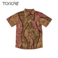 TORIO Smart Casual Gold Batik Shirt - Kemeja Batik Anak (6-12 tahun)