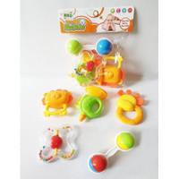 Mainan Edukasi Anak Baby Rattles Kerincingan Bayi Set Isi 5 K225D-35