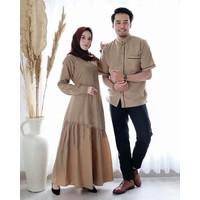 Couple Gamis Denim/Fashion Couple/Baju Pasangan Muslim/Baju koko/Gamis