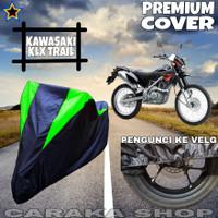 Cover Motor KAWASAKI KLX TRAIL Hitam HIJAU Anti Air PREMIUM