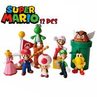 Topper Cake Figure Mario Bros Set isi 12