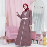 Baju Gamis Wanita Warna Fayrany Seri FBG-WW-004 - Maroon, S