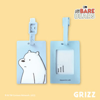 We Bare Bears Luggage Tag Ice Bear / Gantungan Tas Label Koper