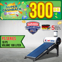 INTISOLAR PS10 PEMANAS AIR SURYA 100ltr Inti Solar Water Heater PS 10
