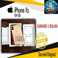 iphone xs 64gb second mulus ex internasional fullset