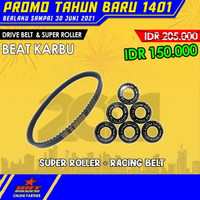 Paket Super Roller & V Belt BRT Honda Beat Karburator