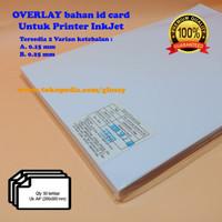 BAHAN PVC ID CARD 50 lembar - Overlay