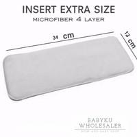 Insert clodi microfiber 2 layer / popok kain microfiber
