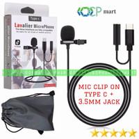 Microphone Lavalier Mic Clip On Type C w 3.5mm jack tiktok zoom smule