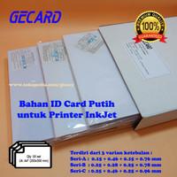 PVC BAHAN ID CARD PUTIH 50 SET