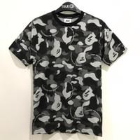 Bape X CDG T-shirt Camo Black 100% Original - S