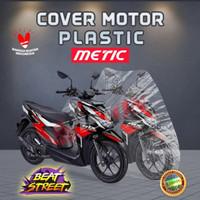 Sarung Cover Motor Plastik Transparan Beat Vario X-Ride Freego Mio