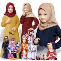 baju gamis anak perempuan / cewek / kids kaos anak lucu / muslim mexi