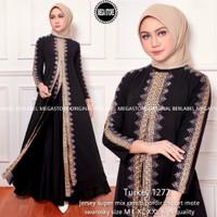 Baju Gamis Syari Wanita Turkey Kaftan Jersey Premium Terbaru