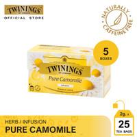 Twinings Paket Bundle Set 5 Teh Celup Pure Camomile 25x1gr