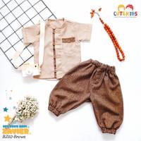 setelan baju koko anak bayi laki laki cowok 3 bulan - 2,5 tahun - BZ 02, S