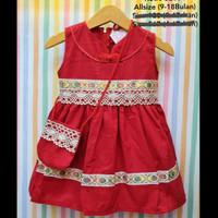 Red Cheongsam / Dress Bayi Lucu Murah / Dress Imlek Sincia Bayi