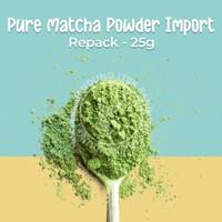 Pure Matcha Powder Import Bubuk Green Tea Murni Repack 25g