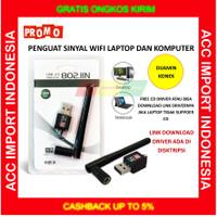 Penguat Sinyal USB adapter untuk WIFI + Antena 300Mbps LAPTOP PC