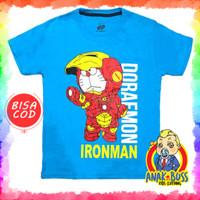 Kaos Baju Anak Laki-Laki Motif Doraemon Ironman 1-10 thn anak boss - 1-2