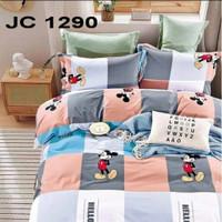 Lia Sprei Set Mickey Mouse Katun Jepang Ori Uk.120x200x25 Single Size