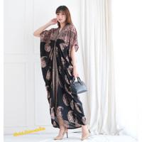 Long Kaftan Dress Batik Terusan Panjang Modern - Crescent ramadhan