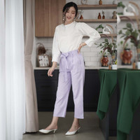 Classic Ribbon Pants Beatrice Clothing - Celana Bahan Wanita